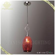 2015 Hot sale hanging turkish mosaic light red glass shade pendant lamp