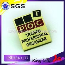 shiny rectangle metal pin company pin logo pin as business gifts