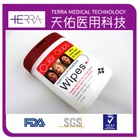 New Professional Antibacterial 10pcs Hair Color Remover Wipes Hair Color Cleaning Wet Wipe