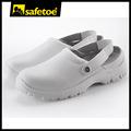 Blanc chaussures de sécurité esd, hôpital sabots, chaussures de travail l-7096 hospital.