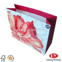 custom printed gift shopping paper bag