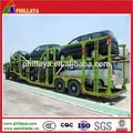 Duplo eixos transporte de automóveis semi-reboque usado transportar 9 carros para venda