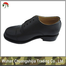 Black Leather Officer Military Shoes
