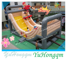 china cheap commercial party use small zip line inflatables sky wet dry slides for children for sale