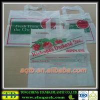 plastic photo printed high quality soft loop bag