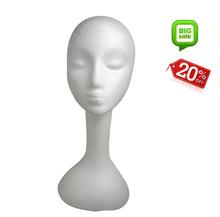 Natural human hair for training foam mannequins head