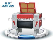 Leather MDF wood acrylic mini desktop SF6040E laser engraving cutting machine