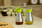 Kitchenware Glass & Stainless Steel Oil bottle Cruet Oil & Vinegar Bottle Sauce caster oil and vinegar