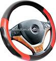 Fabricação fábrica popular preto + vermelho PVC volante de carro cobre para caminhões auto acessórios