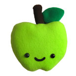 plush toy apple, stuffed apple toy , stuffed toy apple