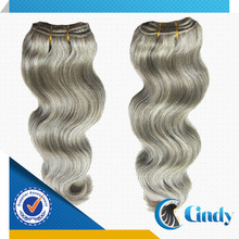 cheap price no tangle all colors all textures 8-36inch brazilian grey human hair weaving