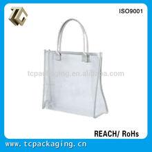 Branded original small pvc handled handbag