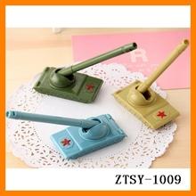 2014 new cheap feature tank shape plastic promotional gel ink pen wholesale ZTSY-1009