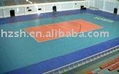 Plastic volleyball court flooring