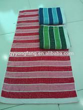 mix color promotion Jacquard 70*140cm cotton/polyester stripe beach/ bath stock towels china manufacturer