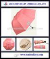 estar caliente venta de moda creativa tres paraguas plegable trofeo de promoción