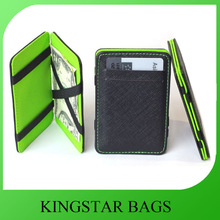 2014 Hot Selling Black PU Leather Magic Wallet With Card Slots