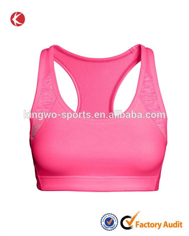 ตงกวนตาข่ายกลางสนับสนุนผู้หญิงกีฬายกทรงชุดชั้นในโยคะทำงาน