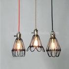 Cage pendant light modern steel aluminum glass pendant lamp lighting