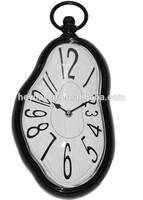 black melting dali plastic wall clock