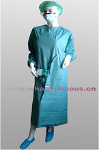 Sontara fabric blue surgical gown