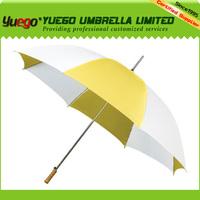 plastic,alibaba website, auto open yellow umbrella golf club