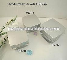 2014 New design Square Acrylic Cosmetic Face Cream Jars