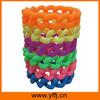 Colorful fashion silicone bangle braided design