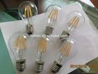 dimmable e27 e26 6W CRI 90 110V transparent glass led filament bulb tuning light