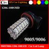 Super Bright 10-30V 9005/9006 1206 108SMD Motorcycle Fog Lights Led