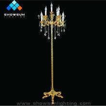 6 Lights Modern Crystal Chandelier Floor Lamp