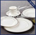 Round Shape super white 20pcs Dinner Set Exclusive silver Design F2001