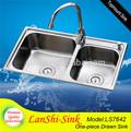 ls7642 comercial cabeleireiro açoinoxidável dissipador de lavandaria para barbeiro