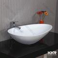Menor preço China fez branca de neve de mármore pias de banheiro