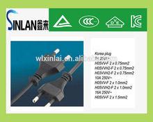 KOREA KC certification 16A 250V Korea 2 pin plug Korea plug