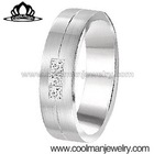 Coolman European fashion jewellery diamond ring for men stainless steel jewelry