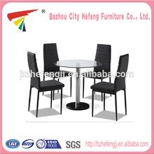 2014 New Style black glass fiber dining table set
