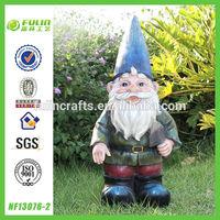 Working Garden Gnome Small Resin Figurine