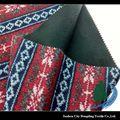 clásico de navidad paño grueso y suave polar terry tela para la ropa