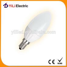 C37 LED Candle Light Bulb Ceramic CE led wax candle light