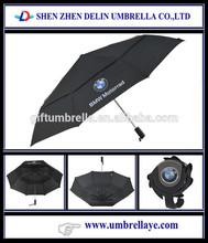 Auto open brand logo BMW folding umbrella waterproof