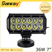 Coated stand portable driving 36w vehicle double rows led work light bar, led work lamp