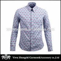 latest fashion Casual slim floral men shirt