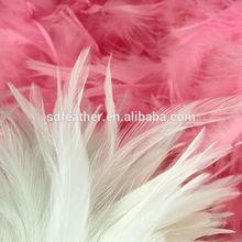 "Factory Supply 4-6"" White Saddle Feathers"
