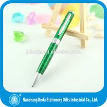 Luxury fat green metal pen set