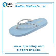 Summer cool blue flip flops comfortable flat flip flops