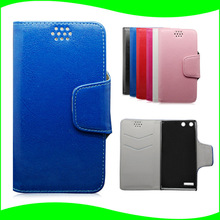 Vintage Left and Right Side Open Book Folio Flip Style Crazy Horse PU Leather Mobile Phone Case for Huawei Ascend G6