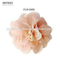 2015 Trendy carnation fabric flower for garments