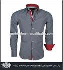 black and white slim fit gingham dress shirt