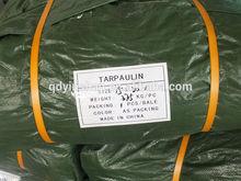 China tarpaulin supplier 100% VIRGIN new high density polyethylene military sliver green custom size truck/boat/equipment cover